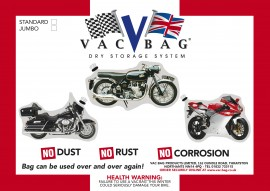 Motorcycle Vac Bag® Standard - Size 3.0m x 2.4m (10ft x 8ft)