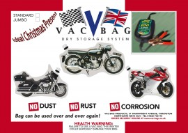 Motorcycle Vac Bag® Jumbo & Battery Tender 800