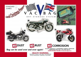 Motorcycle Vac Bag® Standard & Battery Tender Plus