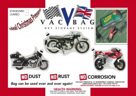 Motorcycle Vac Bag® Jumbo & Battery Tender Power