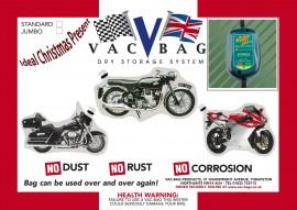 Motorcycle Vac Bag® Standard & Battery Tender 800 Lithium